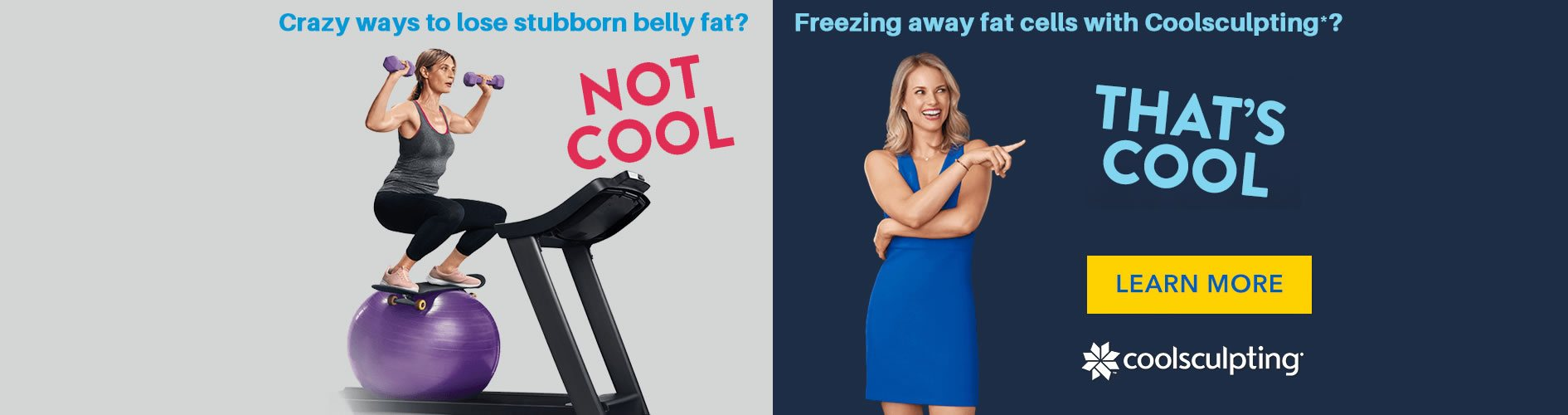 reezing away fat cells with Coolsculpting Slider